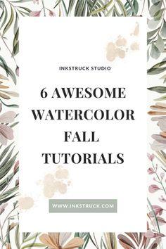 Watercolor Art Diy, Watercolour Tutorials, Illustrator, Studio, Fall, Roses, Inspiration, Awesome, Autumn