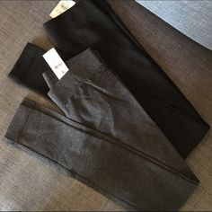 2 Pairs LOFT Lou and Grey Essential Leggings Two pairs for sale for less than the price of one! Both new with tags and size XXS, one is black and one is gray. Ann Taylor LOFT Lou and Grey Essential Leggings. Soft cotton blend material. LOFT Pants Leggings