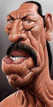 Bruno Munier caricature of Danny Trejo Cartoon People, Cartoon Faces, Cartoon Art, Funny Face Drawings, Funny Faces, Caricature Artist, Caricature Drawing, Funny Caricatures, Celebrity Caricatures