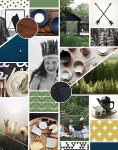 Nice mood board for a brand or collection, lifestyle or fashion.