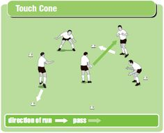 Touch cone warm-up drill | Rugby Coach Weekly