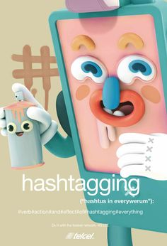 """Telcel Ad """"Hashtagging"""" by Grand Chamaco."""