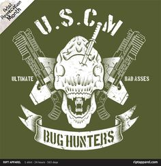 Bug Hunters by Brandon Wilhelm - Wednesday November 9, 2011 Printed design available on mens & womens graphic tees, back print hoodies, kids and toddlers size tees, and onesies. Buy today only at...