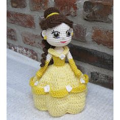 This is a crochet pattern for the adorable Belle princess from the movie 'The Beauty and the Beast'.