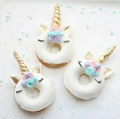 unicorn, sweet, and donuts image