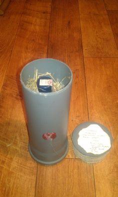 Pojemnik na butelkę wykonana z rury kanalizacyjnej 4