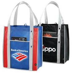 6e5e3b2ae Eco Strap Tote..This non-woven carry-all promotional tote bag will