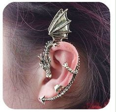 Dragon Ear Cuff  I am Khaleesi.....would never get this but love it's game of thrones!