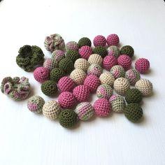 Items similar to Set of 40 pcs crochet beads /Teething beads / Wooden crochet beads / Handmade beads on Etsy Crochet Ball, Bead Crochet, Crochet Pacifier Clip, Handmade Beads, Handmade Gifts, Teething Beads, Nursing Necklace, Crochet Table Runner, Pacifier Holder