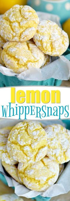 These Lemon Whippersnaps are perfect for a party! Super easy to make with just a handful of ingredients! Lemon zest and lemon juice give these amazing cookies a bright, bold flavor that's impossible to resist! // Mom On Timeout #lemon #cookies #baking #easy #recipe #easyrecipe Lemon Desserts, Lemon Recipes, Party Desserts, Cookie Desserts, Just Desserts, Baking Recipes, Sweet Recipes, Cookie Recipes, Delicious Desserts