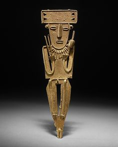 Male Figure (tunjo)  Date:     10th–mid-16th century Geography:     Colombia, Guatavita Lake region Culture:     Muisca