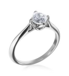 Hearts On Fire - Simply Bridal Collection Platinum Off Set Dream Solitaire Setting.  Maybe with some diamonds on the side?