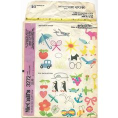McCalls 3272 30 Transfer Patterns for Chain & Satin Stitch Embroidery Listing in the Fabric Transfers,Fabric Painting & Decorating,Crafts, Handmade & Sewing Category on eBid Canada Satin Stitch, Fabric Painting, Embroidery Stitches, Craft Supplies, Envelope, Canada, Decorating, Chain, Patterns