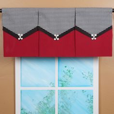Design Your Valance Houndstooth 3-Panel Valance | Overstock.com