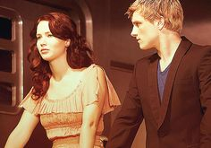 Katniss Everdeen From The Hunger Games. Just to get the chance to interact with Peeta Mellark <3 <3 <3