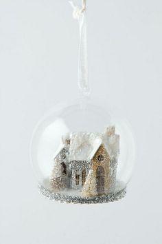 Heaven & Hearth Snow Globe, White #anthropologie