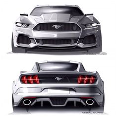 Future design ford mustang, may look like it has the muscle taken out of it but honestly i think its pretty sick. | See more about Ford, Muscle and 2015 Ford Mustang.