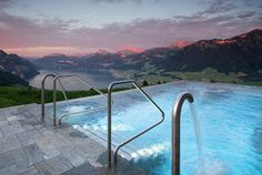 In the Swiss Alps, ft m) above sea level, you will find Villa Honegg; a boutique hotel with some of the most breathtaking views in. Hotel Villas, Hotel Pool, Hotel Spa, Hotel Villa Honegg Switzerland, Switzerland Hotels, Lucerne Switzerland, Switzerland Tourism, Visit Switzerland, Infinity Pools