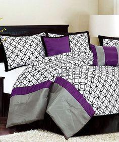 purple lockwood queen comforter set - Purple Comforters
