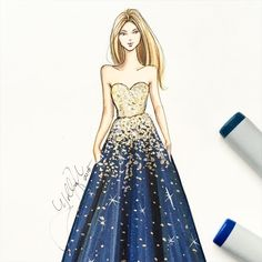 """""""@zuhairmuradofficial sketched with @copicmarker #zuhairmurad #zuhairmuradcouture #pfw #pfw16 #parisfashionweek #fashionsketch #fashionillustration…"""""""