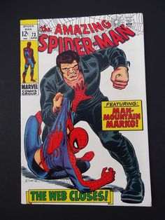 Amazing Spider-Man #73! Silver Age! 1969! 1st Mountain Marko! 1st Silvermane!