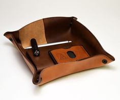 Leather Valet Tray/Pouch