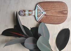 Handcrafted and -painted timber serving boards and spoons by artist Millie Fairhall. What a beautiful work! Painted Pots, Hand Painted, Timber Boards, White Cedar, Tribal Decor, Painted Boards, Tribal Patterns, Wood Creations, Bohemian Living