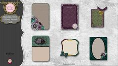 CLGraphics Moonlight Velvet and Roses Cards