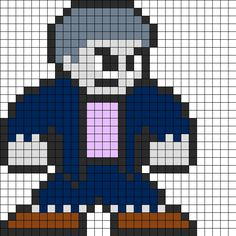 Solomon_grundy_perler_bead_pattern by Groundhog7s on Kandi Patterns