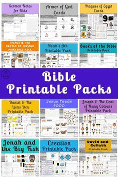 Massive List of Bible Printable Packs for Kids