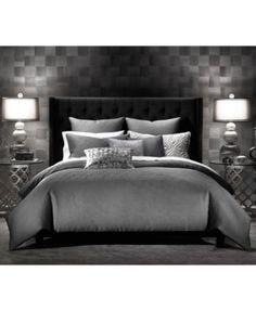 3c00b18a7b35e INC International Concepts Rizzoli Gunmetal Comforter and Duvet Cover Sets