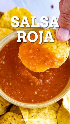 Mexican Salsa Recipes, Mexican Dishes, Mexican Food Recipes, Vegetarian Recipes, Cooking Recipes, Healthy Recipes, Homemade Mexican Salsa, Easy Homemade Salsa, Mexican Snacks