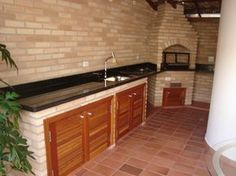 projetos-churrasqueiras-de-canto Simple Outdoor Kitchen, Outdoor Kitchen Design, Patio Design, Kitchen Decor, House Design, Wood Router, Woodworking Wood, Cottage Plan, Furniture Makeover