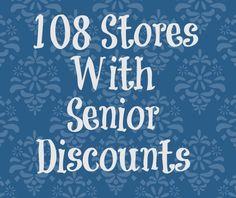 Stores with senior discounts savingmorethanme.com