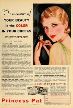 Princess Pat Makeup, October 1932.