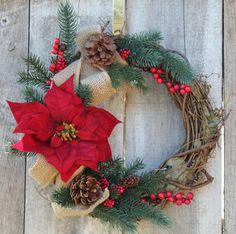 Holiday Wreath, Christmas Wreath, Winter Wreath, Front Door Wreath, Outdoor Wreath
