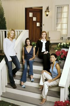 Sherly Lee as Mary Alice Young (unaired pilot) and rest of the housewives ~ Desperate Housewives ~ Publicity Stills ~ Pilot Episode ~ March 2004 Desperate Housewives Bree, Justine Bateman, Bree Van De Kamp, Brenda Strong, Nicollette Sheridan, Gabrielle Solis, Lyndsy Fonseca, Kyle Maclachlan, Julie Benz