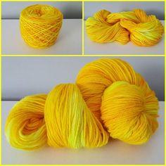 Sunshine, OOAK, DK Weight, 246 yards/100 grams, 100% Merino Wool
