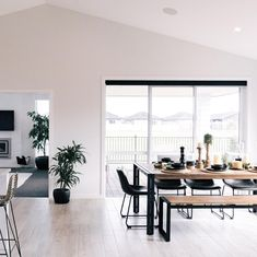 Who wants some money!? 💸💸💸 Refer a mate and receive $500 cash!⠀ Contact us for details.⠀ .⠀ .⠀ .⠀ .⠀ .⠀ #blackandwhite #openspace #money #giveaway #goldensands #referafriend #openplanliving #kitchen #showhome #rackingceiling #whitewalls #houseandland #barretthomesnz #buildabarrett #makingthingshappen #referral Furniture, House, Home, Dining Table, New Homes, Table, Show Home, White Walls, Open Plan Living
