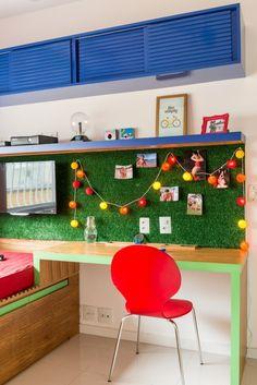 """Pin de NaToca.com.br Painel de """"grama"""", by Egg Interiores (foto: Sambacine)"""