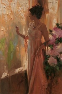 Artist - Richard S Johnson ... Lovely <3  Imagine painting a wall like this in a room?!