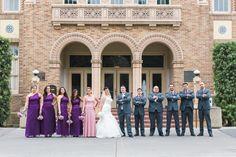 Classic Group Photo | Wedding Party Photos Ideas | Wedding Party Group Poses | Rubidia C Photography