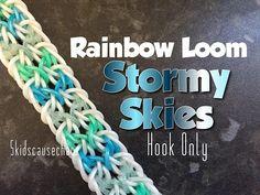 Rainbow Loom Stormy Skies Bracelet Hook Only - YouTube