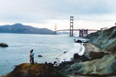 San Francisco Engagement session with the Golden Gate Bridge