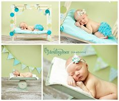 Newborn Pictures..I love the one in the bottom left corner! Newborn on an old scale-precious!