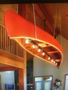 Fixation d'éclairage Rustic Lodge - Home Decora La Maison Rustic Light Fixtures, Track Lighting Fixtures, Rustic Lighting, Chandelier Lighting, Canoa Kayak, Boat Lights, Lake Decor, Lake Cabins, Surf