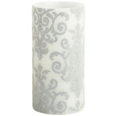 Damask Beaded LED candle