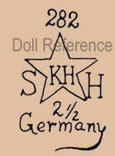 Kley & Hahn doll mark 282 SH star symbol KH 2 1/2 Germany head by Schoenau & Hoffmeister