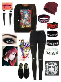 Ghost Town by fallenangel182 on Polyvore featuring polyvore fashion style Topshop Vans clothing