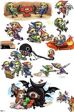 Zelda: Four swords dump by ~KIRU75 on deviantART